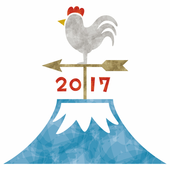 2017 Rooster / New Year's cards / Weathercock
