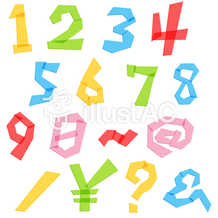 ゆる文字数字と記号セット5c