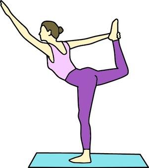 Female color to do yoga