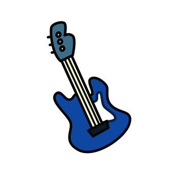 Electric guitar (blue)