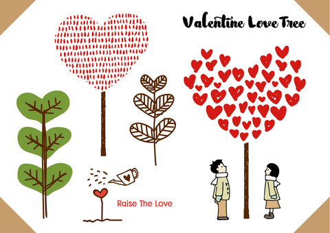 Valentine's Illustration 14 Heart Tree