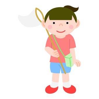 곤충 잡기 소녀