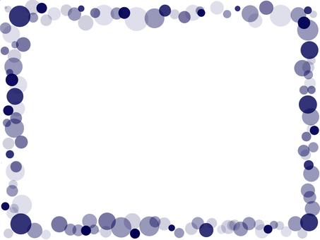 Bubble frame indigo blue