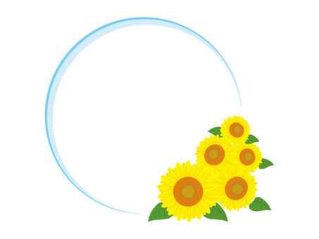 Sunflower round frame 1