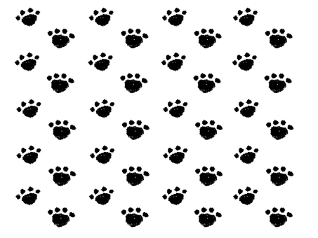 Cat's footprint background (black)