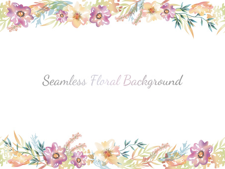 Watercolor style seamless flower background