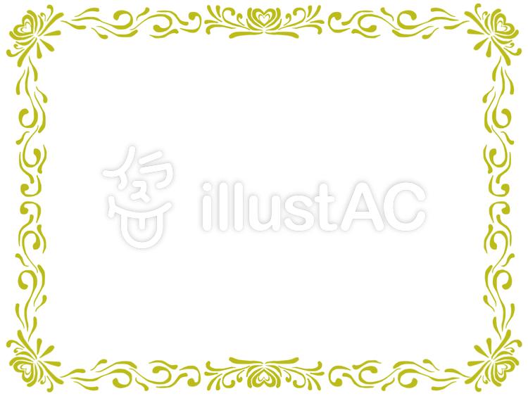 蔓フレーム金のイラスト