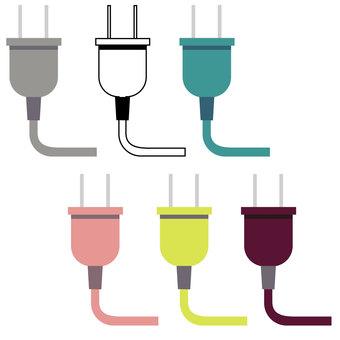 Plug outlet set vector