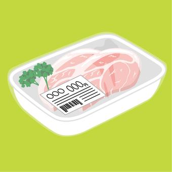 돼지 고기 돈까스 팩 포장