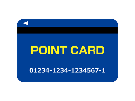 Point card (magnetic card) Blue
