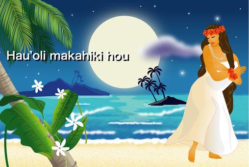 美しい月夜の浜辺1