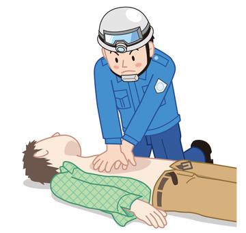 救命救急 救命処置 医療 イラスト