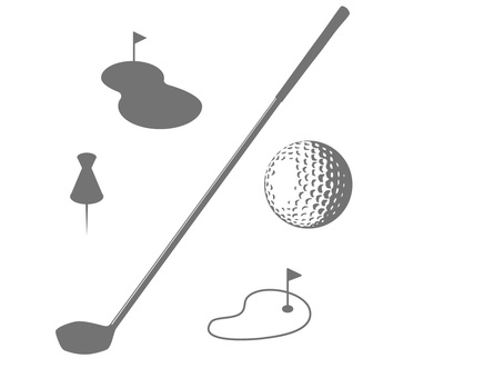 Golf goods silhouette