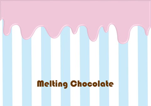 Melting strawberry chocolate