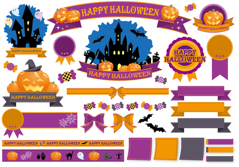 Halloween sticker & ribbon