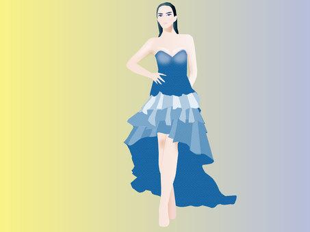 Dress wearing model 03