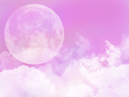 Background moon & amp; cloud pink