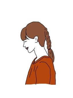 三つ編みの少女