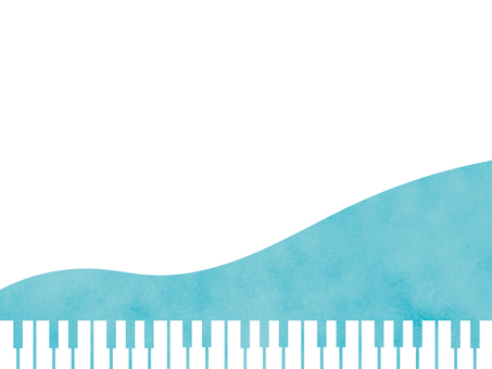 Watercolor style piano keyboard