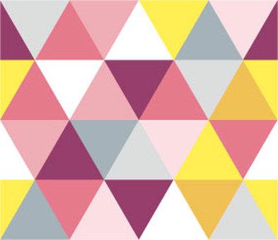 幾何圖案(三角形,粉紅色)