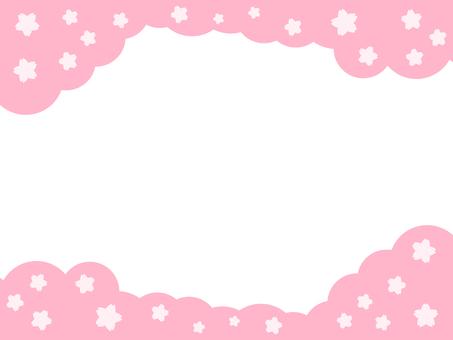 Mokomoko cherry blossoms frame