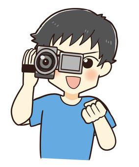 ビデオカメラとお父さん