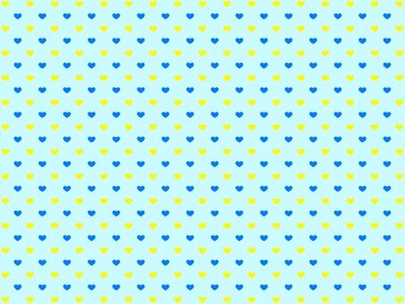 파란색과 노란색 하트 배경 화이트 데이