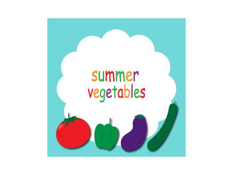 Illustration material of summer vegetables