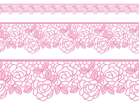 Lace braided wind (roses) with brush pattern shade