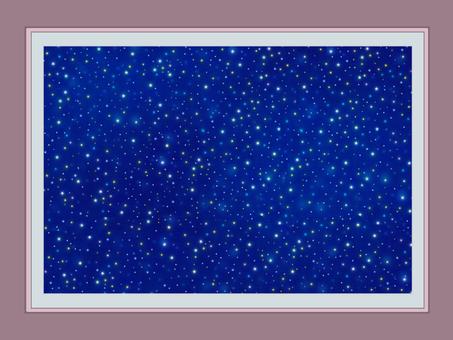 Photo frame starry sky