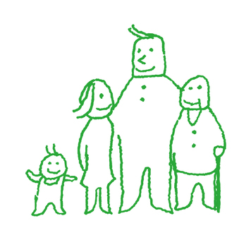 Heartwarming family members _ Green