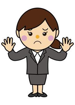 Woman 20_04 (suit, troubled face)
