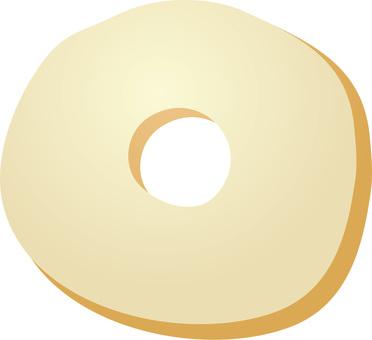 甜甜圈白巧克力
