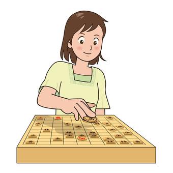 Shogi game illustration