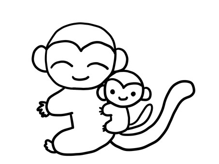 Monkey parent and child