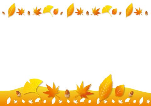 Orange background image of fallen leaves