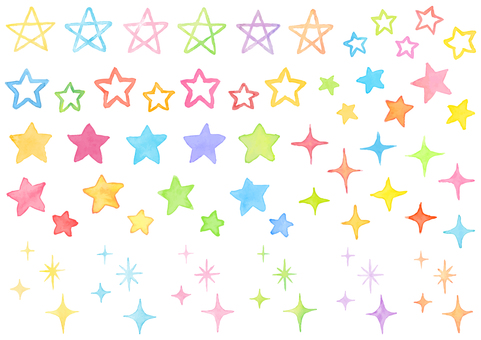 An assortment of colorful stars