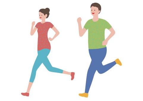 Runner Illustration Set