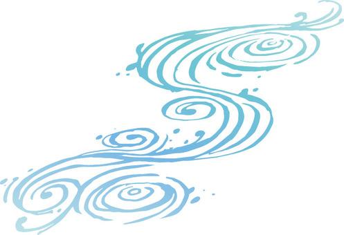 Flowing lines 2 (water)