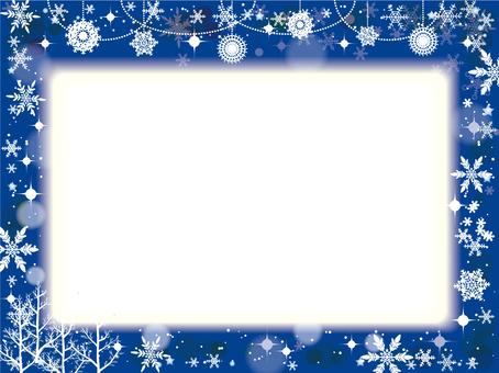 Snowflakes frame blue NEW