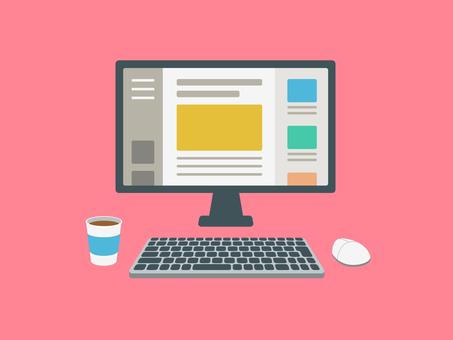 Desktop computer blog screen