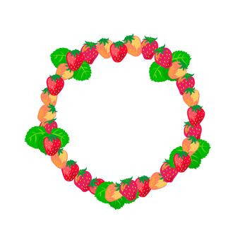 Strawberry circular frame