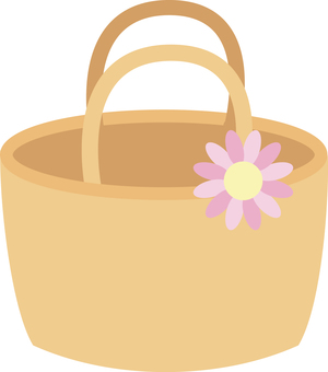 Basket bag <With flowers>