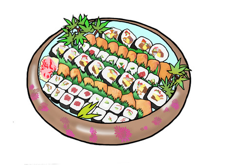 Ibaraki and sushi rolls
