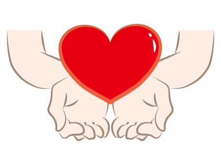 Heart and hand b
