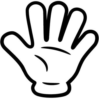 5 fingers gesture stop