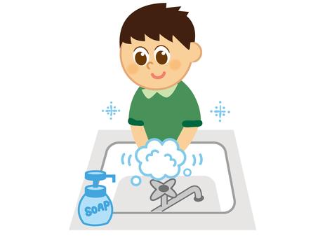 Children _ Hand wash _ Boys