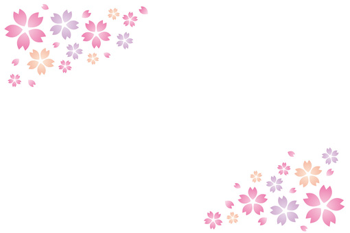 Background picture of spring cherry blossoms ☆ For post card etc material