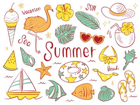 夏の手書きラフセット02