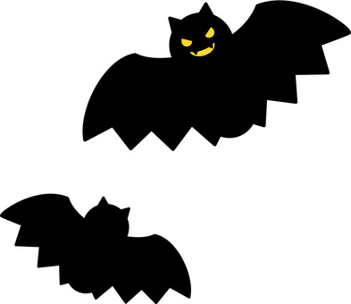 Two bats 2 (eye is yellow)